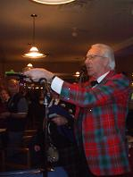 James Wood addressing the haggis 2011